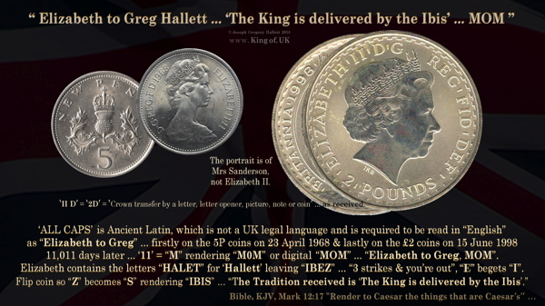 5P to 2 Silver Coins 1968 1998 king of UK Joseph Gregory Hallett 600px